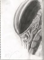 Xenomorph Pencil by unknownguyver81