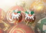 Christmas Pudding / Figgy Pudding Earrings by MokiMinis