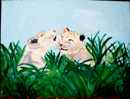 Old Cat Painting 03 by yanagi-san