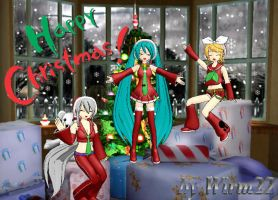HAPPY CHRISTMAS VOCALOID by Wirm22
