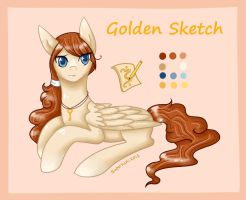 Ponysona - Golden Sketch by Pastel-Circus