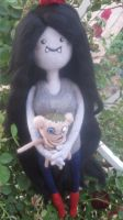 My Handmade OOAK Needle Felted Marceline and Hambo by CatsFeltLings