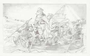 Haminton Crossing the Delaware by TheEndofOurLives