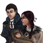 Templar Tuesdays: Haytham, Ziio, and Connor by SirLadySketch