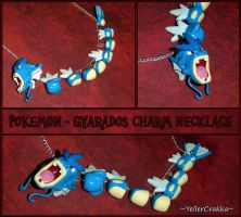 Pokemon - Gyarados Charm Necklace - Handmade PKMN