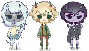 Long sleeves/horns set: CLOSED by claire-face