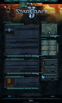 StarCraft 2 Fansite Template by NicotineLL