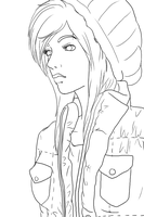 Hipster Ixi Line Art by Faunella