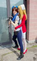 Jill Valentine and Lisa by LittleRikku91