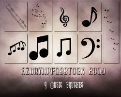 Brushes2009- musicpart 3 by AzurylipfesStock