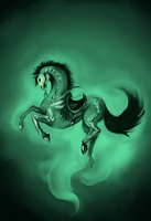 The Saddled and Bridled Horse by Super-Furet