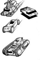 4 military ground vehicles II by akaga