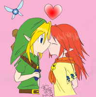 Link x Malon by Moon-of-Darkness