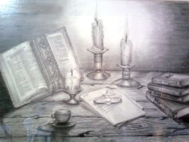 Study by candlelight (Graphite) by joycego