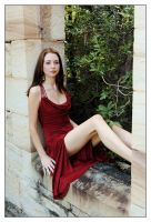 Kathryn - castle red dress 4 by wildplaces