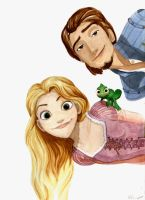 Rapunzel and Flynn by Titild