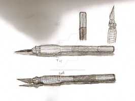 Exacto Knife study by waterfish5678901