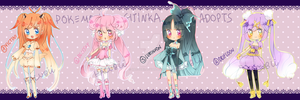 Pokemon Puella ADOPTS! {paypal} {CLOSED} by Hacuubii