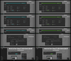 Numix Dark Cyan and Green For Win10 Anniversary by Cleodesktop