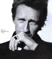 Chris Martin Drawing by Rajacenna