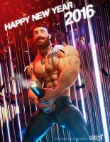Happy new year 2016!! by albron111