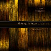 Grunge brown textures for Photoshop by Natalivesna