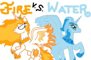 Fire Vs. Water by ToxicFuryVipress