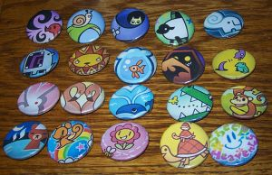 TWEWY Pins - Sheep Heavenly by Paradise-Props