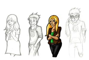 Young Justice Sketches by Tetra-Zelda