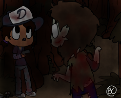 Clem and a Zambie by GravityFallsLuver