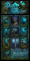 Dark Nature backgrounds by moonchild-ljilja