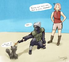 Kakashi's Fear of Cats ~ KakaSaku by serenitytouched