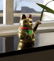 Lucky Cat by materiae