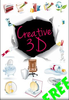 Creative 3d Png Set by AEONFLAX