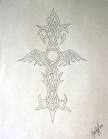 Celtic Irish Winged Cross by StevenWorthey