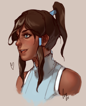 Korra Sketch by crys-art