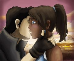 Makorra, kiss. by artissx