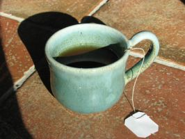 Blue Tea Cup by Potterycat