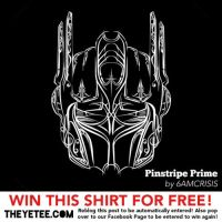 Pinstripe Prime Tee SALE ON by 6amcrisis