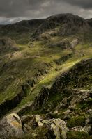 Piers Gill and Broad Crag HDR by crowthius