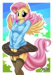 Fluttershy, Wind, Skirt, etc. by mysticalpha