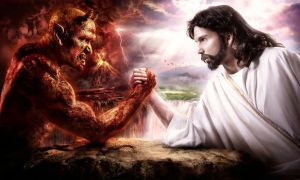 jesus vs devil by TobleTone