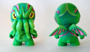 Cthulhu Munny Commission by AmandaMyers