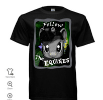 Follow The Equines Tshirt Front *Final Design* by TheBlackmanBrony