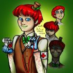 Humanized Happy Appy by Crimson-Miz