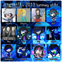 DragonA7X's 2013 Art Summary by DragonA7X