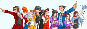 Ace Attorney Characters by Animeartist569