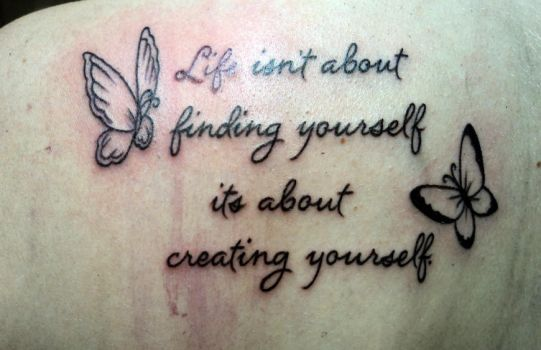quote butterflies tattoo by Kiartia