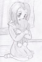 Girl and her teddy by Kyosourade