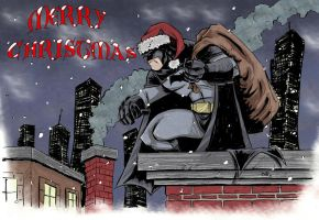Have a BAtty Merry Christmas! by sketchheavy